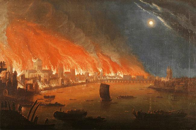 great fire of london, pepys, wine