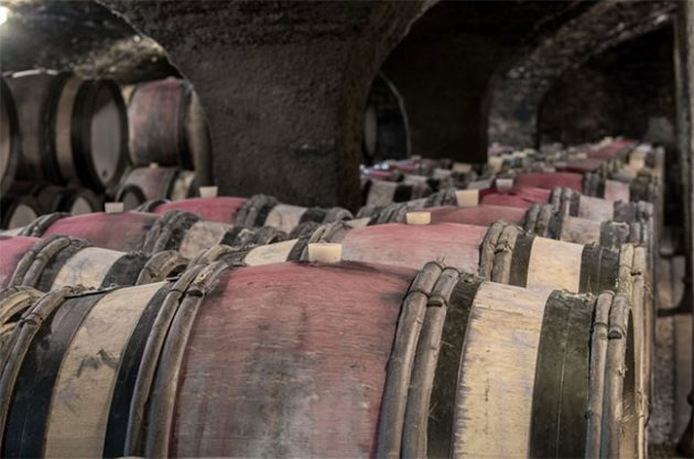 Barrels in the Maison Champy cellars