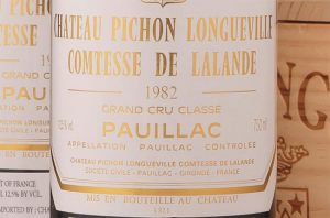 Bordeaux 1982, Pichon Comtesse