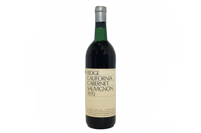 Ridge California Cabernet Sauvignon 1970
