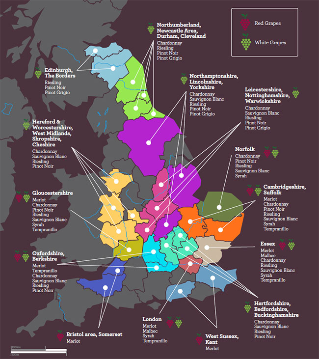 Map Of England 2100.How Britain Could Be A Major Wine Producer By 2100 Study Decanter