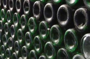 Champagne bottle house