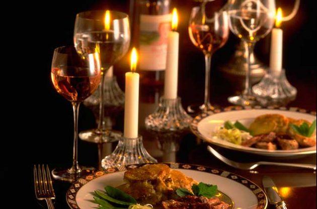 Valentine's food and wine