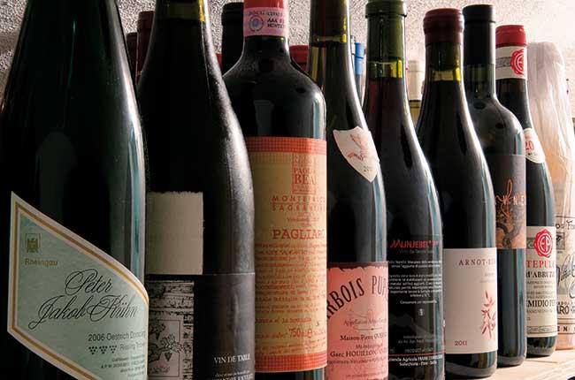 heavy wine bottles