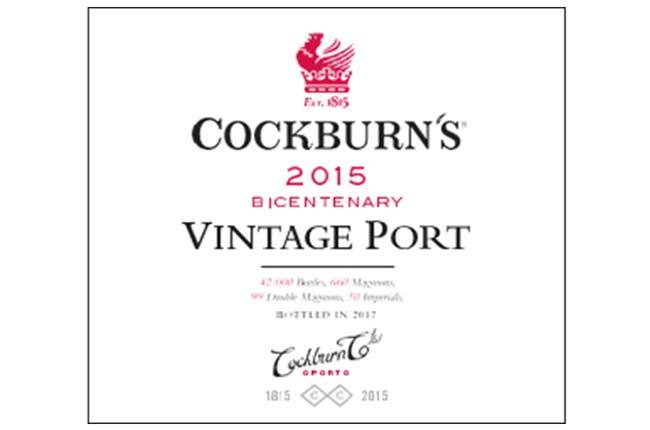 Cockburn's 2015 Vintage Port release