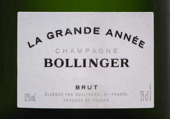 Bollinger Grande-Année 2007 Launch