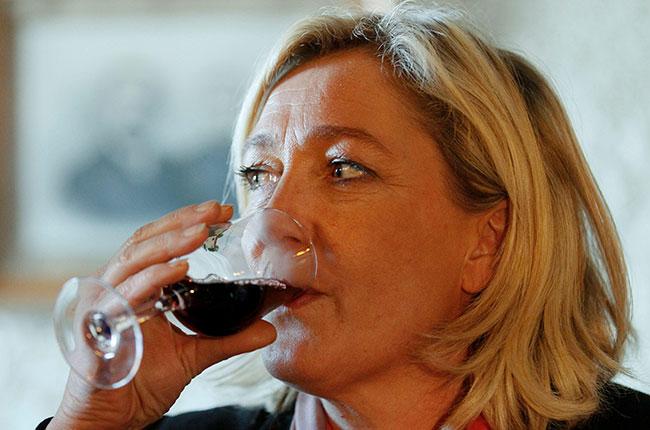 marine le pen, wine