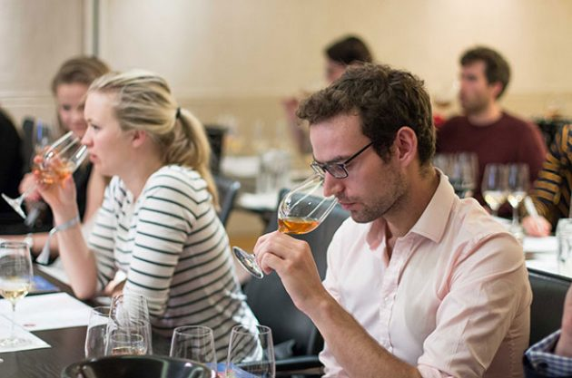 wine course, tasting