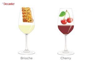 taste of wine, cherry, brioche