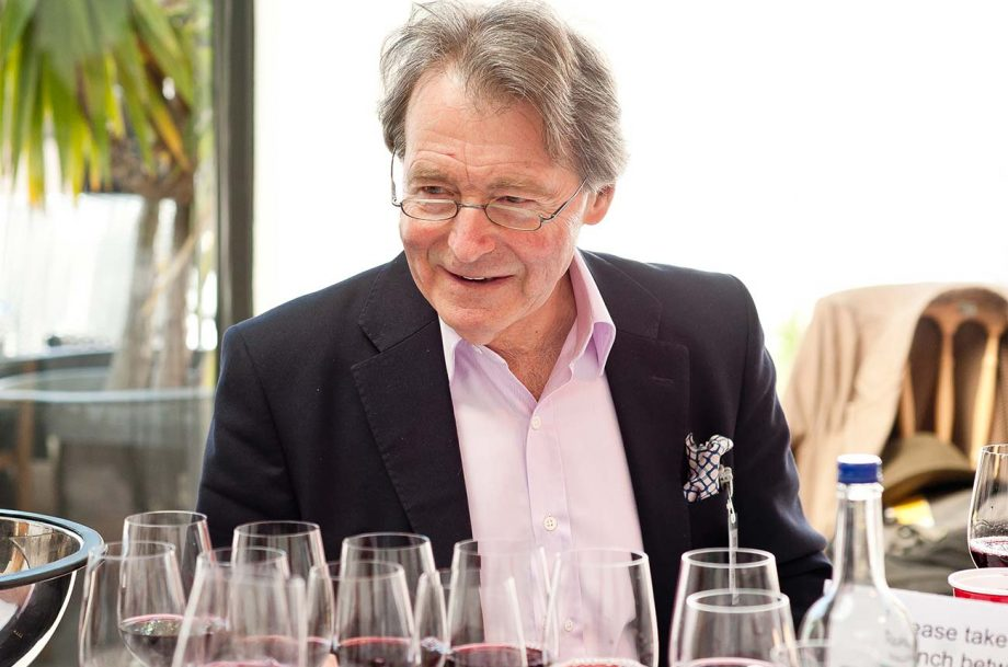 Steven Spurrier tasting wine
