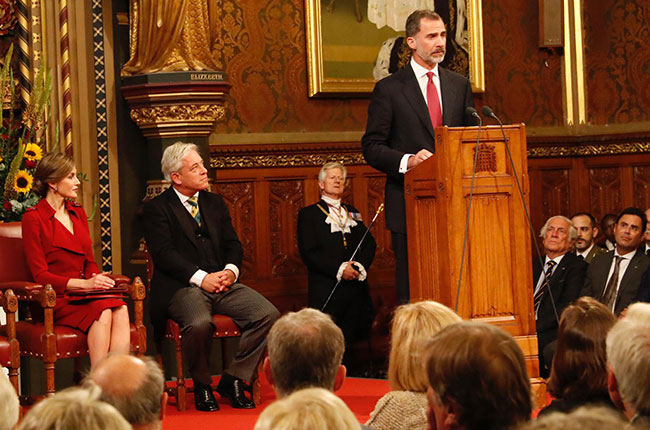 king of spain, uk visit