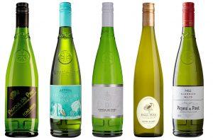 Five bottles of Picpoul de Pinet