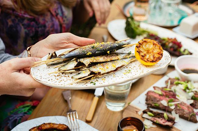 sardines with wine