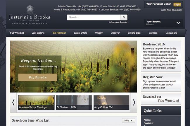 Justerini & Brooks website