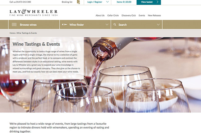 Lay and Wheeler website