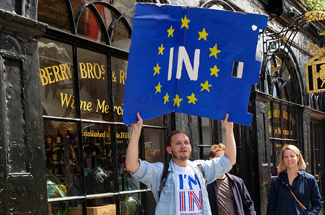 brexit protester, brexit hangover
