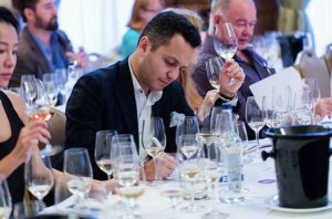 Note taking at a Decanter Masterclass