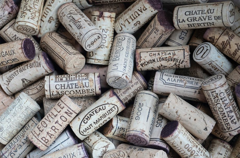 Bordeaux wine corks