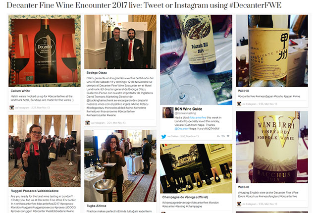 Decanter Fine Wine Encounter 2017 highlights