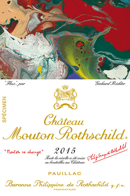 The full Mouton Rothschild 2015 label