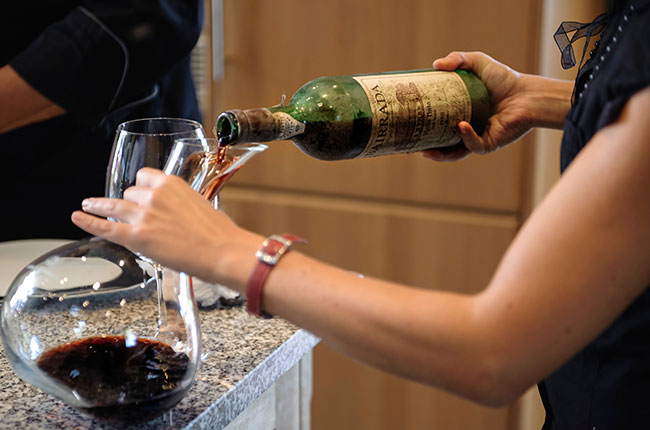 double decanting wine