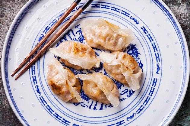 dumpling and wine pairing