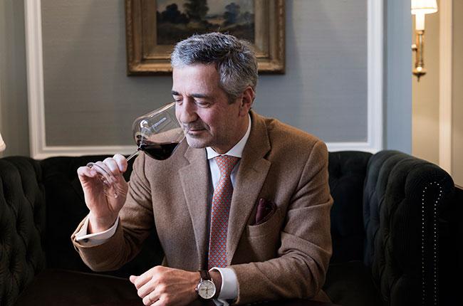 Eduardo Chadwick with wine