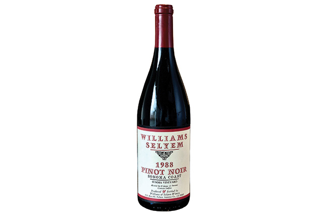 Williams Selyem Summa Vineyard Pinot Noir 1988