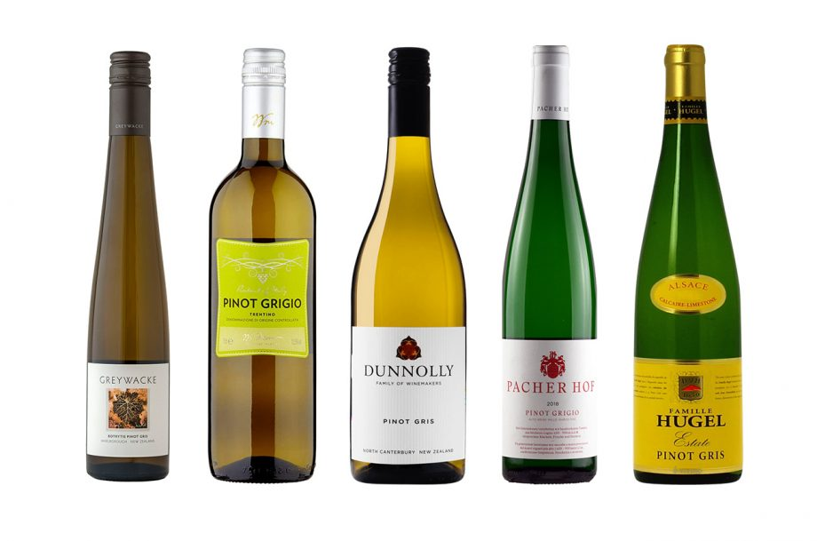 a selection of the best Pinot Grigio wines