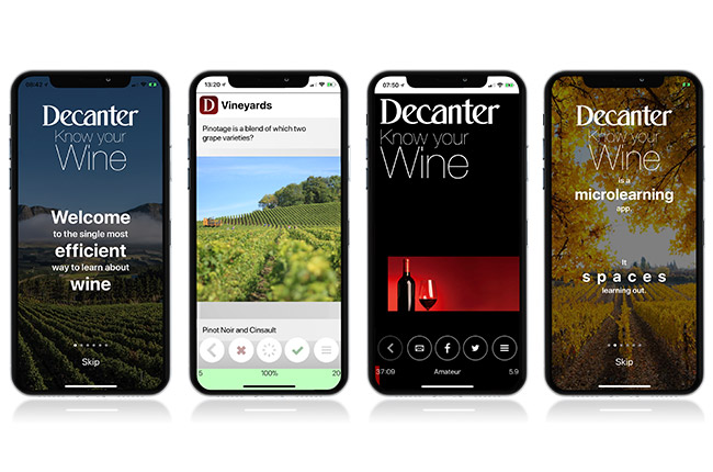 decanter iphone wine learning app