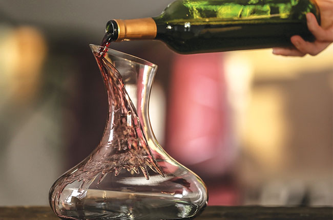 wine after decanting
