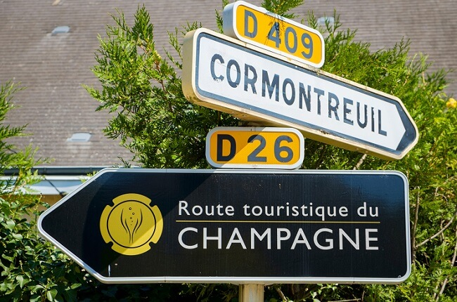 champagne sign