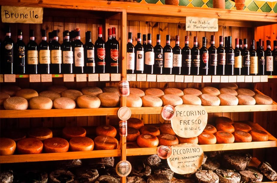 A traditional italian wine shop