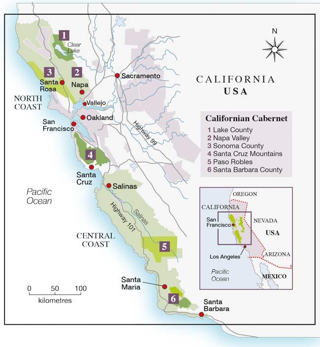 California Cabernet 2015 Map