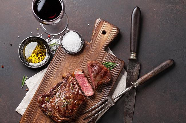 wine steak