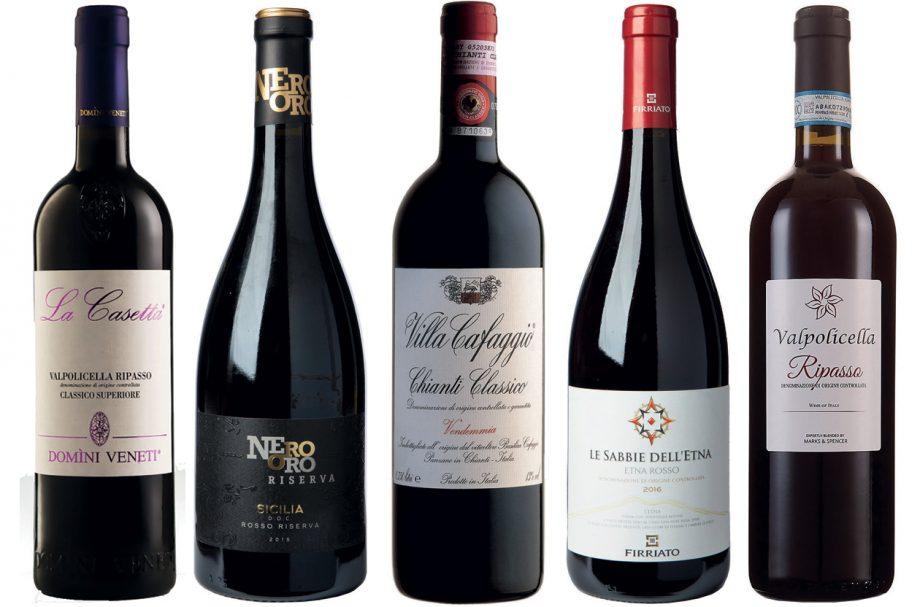 Italian high street red wines