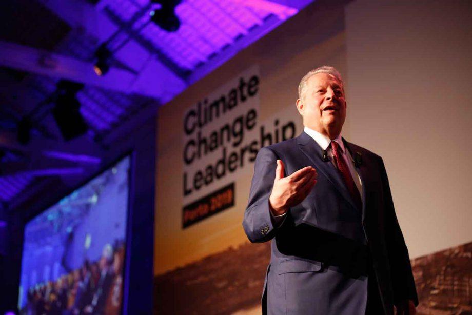 Al Gore, wine climate change conference