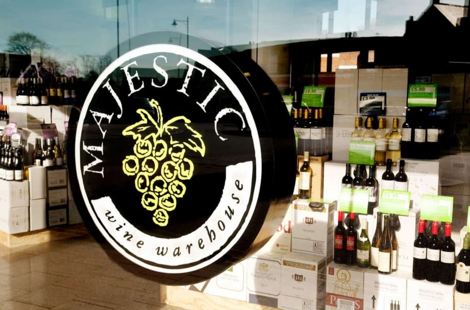 majestic wine rebrand, naked