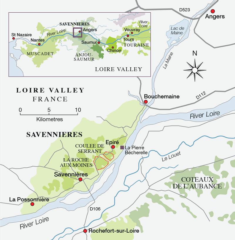 Savennières map