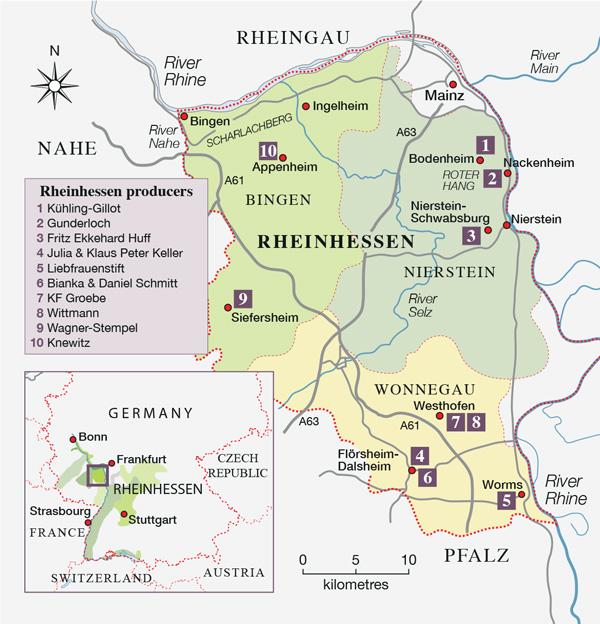 Rheinhessen map