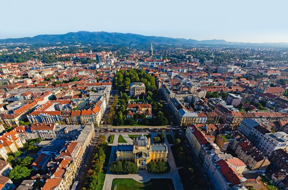 Zagreb from above, northern Croatia