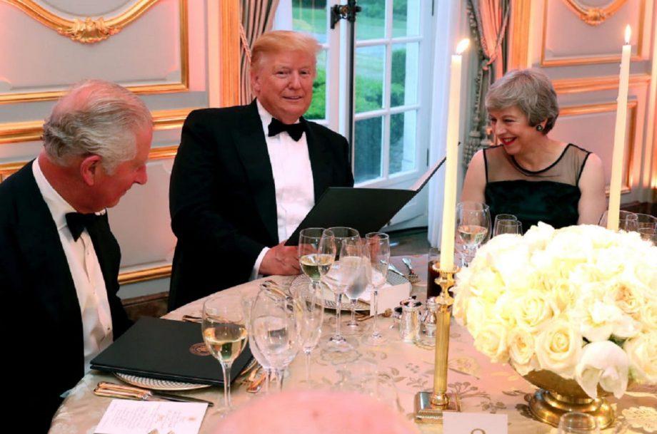trump prince charles dinner