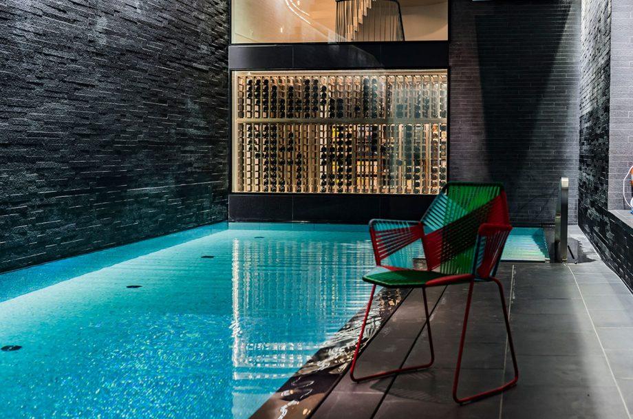 Sorrells wine cellars around pool