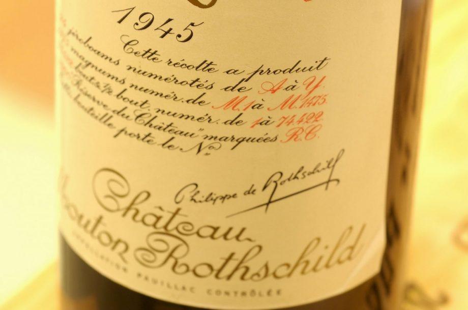 Mouton Rothschild 1945 taste