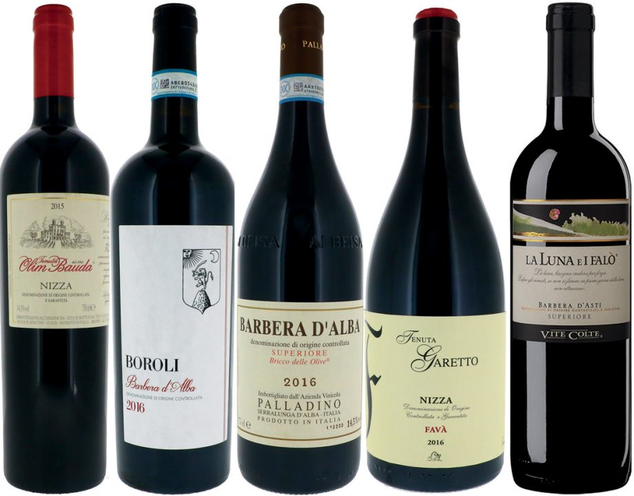 Piedmont red wines