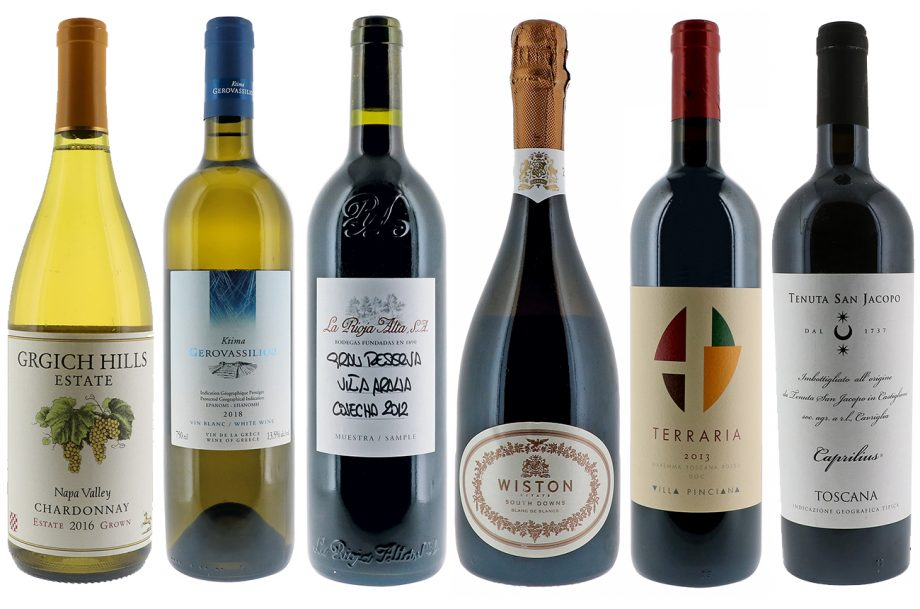 DWWA winner's table at the Decanter Fine Wine Encounter
