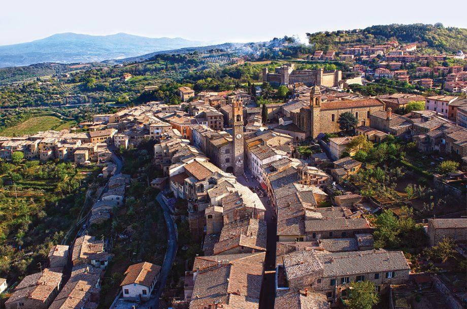 View over Montalcino travel