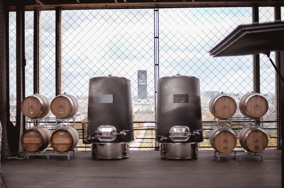 Eiffel Tower winery installation