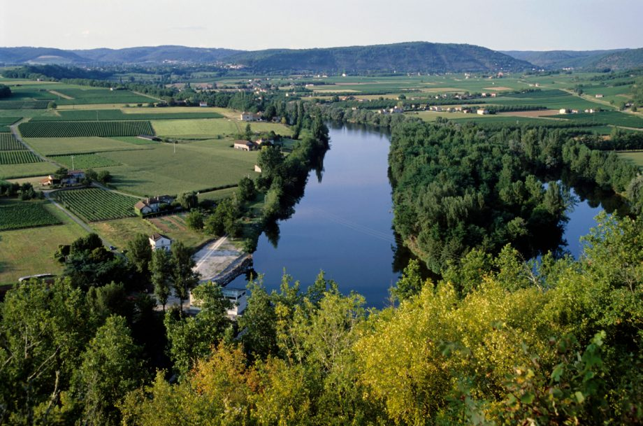 The River Lot Valley and Cahors vineyards