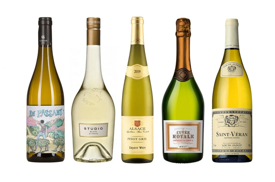 Five bottles of great-value French white wine